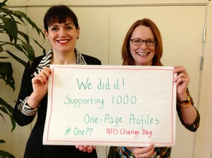Helen Bevan and I, celebrating 1000 #OnePP